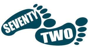 Seventy-two footprint logo