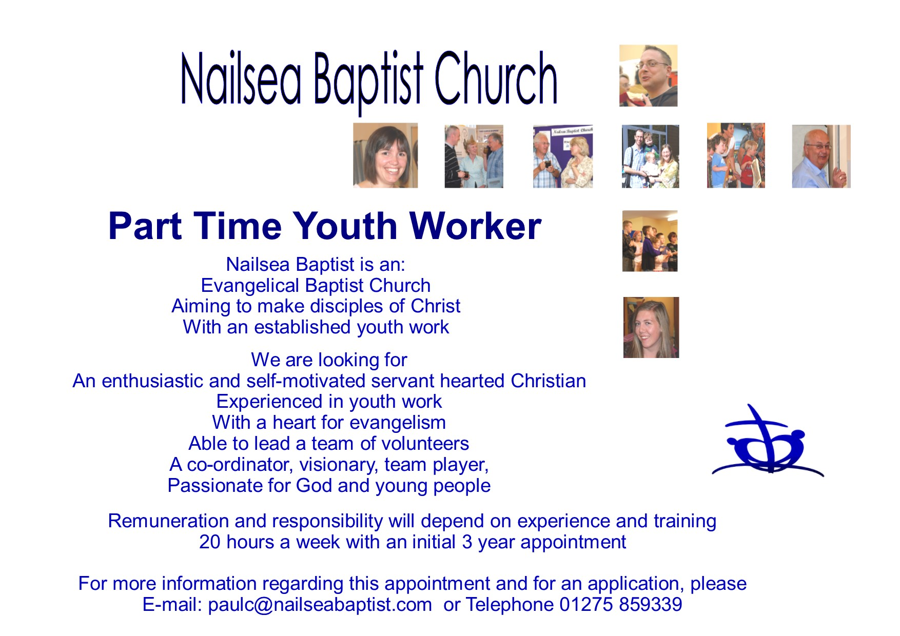 west of england baptist association job opportunity at nailsea part time youth worker advert