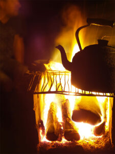 picture of fire and kettle