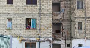 Albanian apartment building