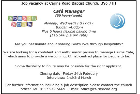 West Of England Baptist Association Job Opportunity At