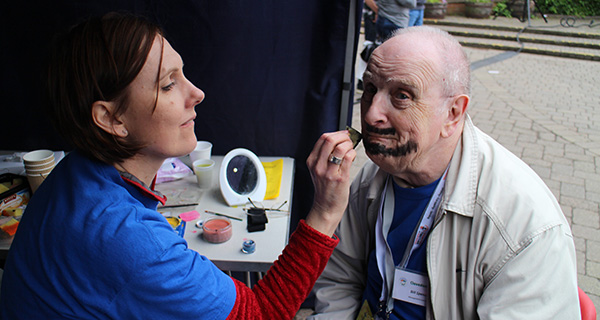 face painting at hope in the square