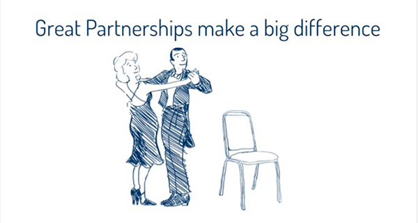 Great partnerships make a big difference (couple ready to dance)