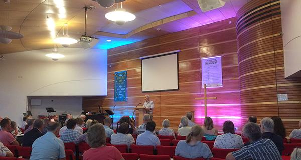 Nigel Coles speaking at the WEBA AGM