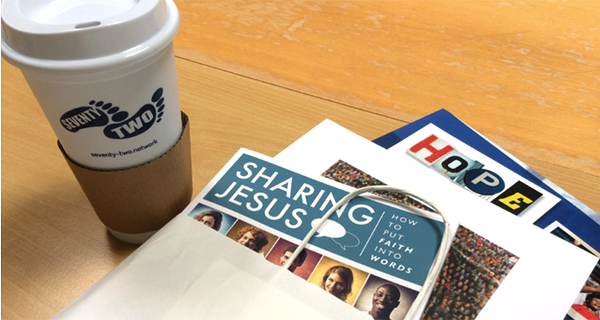 Hope books and coffee cup