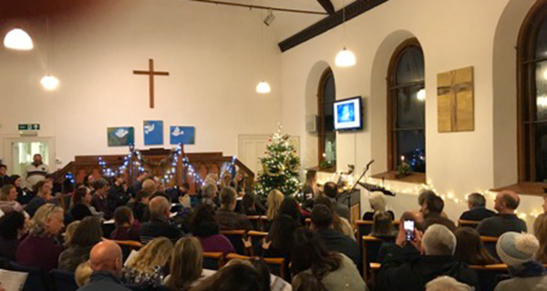 Christmas Concert in the chapel at Chew Magna.