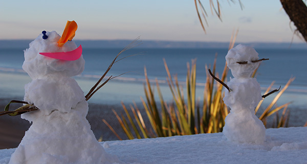 snowmen by the sea